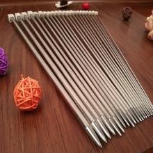 11PCS/set 25cm/35cm Stainless steel Single Pointed Knitting Needles Crochet Hook Tool Craft knitting needles Set 2.0mm-8.0mm