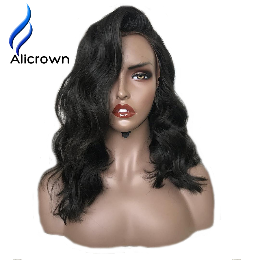 ALICROWN Lace Front Human Hair Wigs For Women With Baby Hair Brazilian 13 4 Front Remy