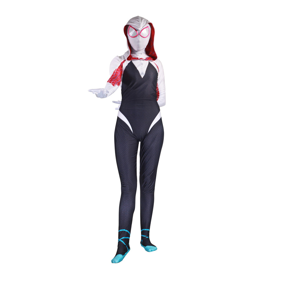 Halloween For Woman Venom Spider Gwen Stacy Jumpsuits Cosplay Costume Adult Bodysuit