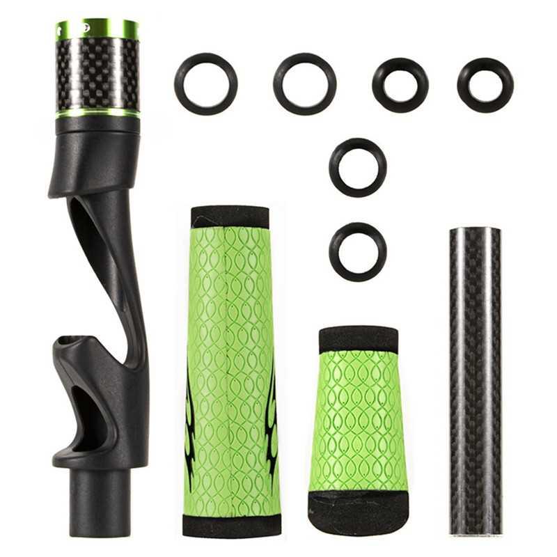 ABS + PU Lederen Handvat Split Kurk Achter Grip Reel Seat Bait Casting Spinning Hengel Building Reparatie Kit Duurzaam reparatie Handvat