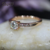 DUPUY Elegant Engagement Ring Art Vintage Round Cut Diamond Ring Classic Designer Jewelry Women Luxury Ring Jewelry D180231