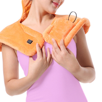 USB Heated Shawl Winter Hot Wrap Electric Warming Neck Shoulder Heating Blanket Pad Soft Brace Support Release Pain from Illness