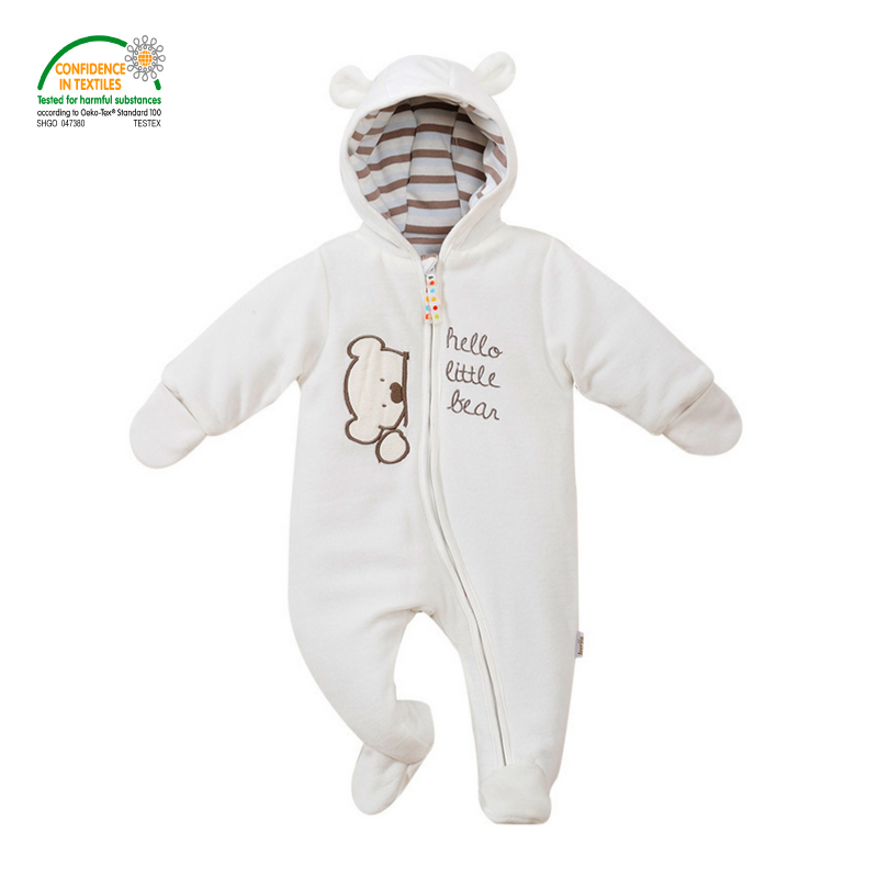 fdc3cea26 Baby Footies Jumpsuit + Hat + Shoes Hooded Baby Snowsuits Oeko tex ...