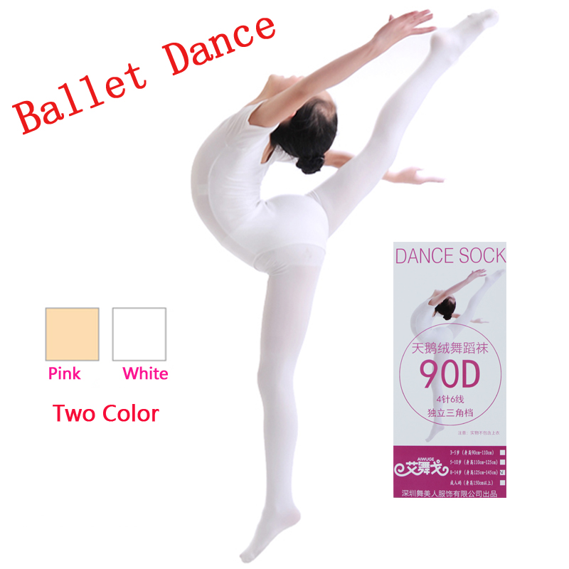 c6e56c68a4b56 Wholesale Discount White Pink Dance Tights Nylon 90D Opaque Velect Pantyhose  Footed Ballet Tights Spring Autumn Fall Winter