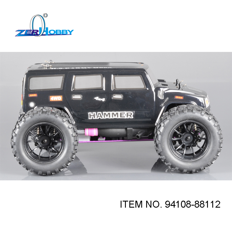 HSP RACING RC CAR MODEL 94108 HAMMER 1/10 SCALE OFF ROAD NITRO POWERED 4X4 MONSTER TRUCK 18CXP ENGINE hsp racing rc car spare parts accessories bodyshell 420 155mm for 1 10 scale monster truck 94188