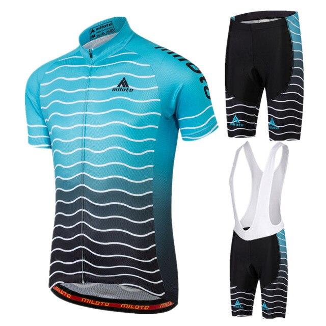 1b8bddad1 2017 MILOTO Cycling Jersey Mens Summer Short Sleeve Cycling Clothing Ropa  Ciclismo MTB Bike Jersey Cycling Wear Maillot Ciclismo