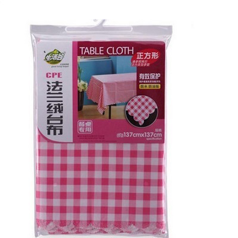 CPE Flannel Tablecloth 137x137cm 137x183cm Square Rectangular Green Pink  Plaid Table Cloth Waterproof Oilproof In Tablecloths From Home U0026 Garden On  ...