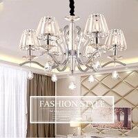 Modern K9 Crystal Chandelier LED Lustre 3/5/6/8 Lights Crystal Chandeliers 110 220v Modern Dining Room Chandeliers Luminarias