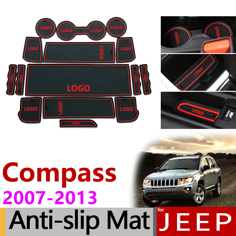 KKmoon Anti-Slip Mats Set Door Pad Gate Slot Mat Cup Mat for Jeep Wrangler JL 2018-2019
