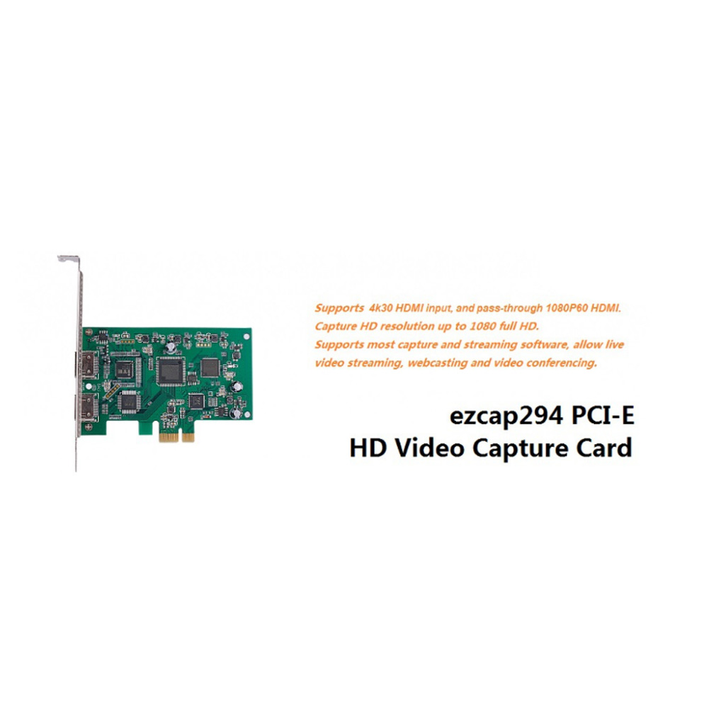 PCIE Video Capture Card HDMI 4K 30P Input HD Video Recorder HDMI Out for Windows Linux LCC77PCIE Video Capture Card HDMI 4K 30P Input HD Video Recorder HDMI Out for Windows Linux LCC77
