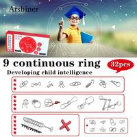 Metal Wire Puzzle IQ Mind Brain Teaser Puzzle Unlock Ring Solution Game Toys Education Toy New