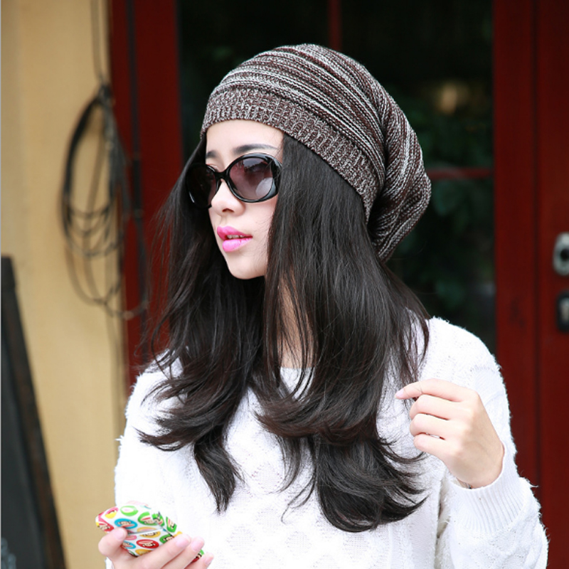 New Fashion Women's winter hat knitted wool beanies female fashion skullies casual outdoor ski caps warm thick hats for women rabbit fur hat fashion thick knitted winter hats for women outdoor casual warm cap men wool skullies beanies