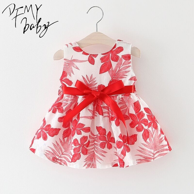 Baby Dresses Girls Summer Princess Cute Cotton Exquisite Bow Tutu