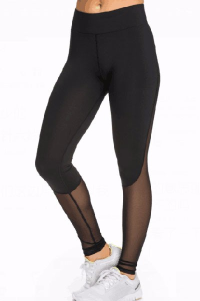 Black-Slimming-Effect-Sport-Legging-with-Mesh-LC79645-1