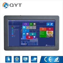 Fanless 12 inch touch PC Windows 7/8/10 inter j1900 2.0GHz 2*RS232 1*RJ45 4*USB industrial PC Rugged computer HDMI+VGA