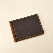 Genuine Leather Money Clip Wallet Handmade Dollar Wallet