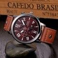 Excelente qualidade xinew mais recente projeto moda casual esportes homens quartzo relógio de couro relógio de pulso relogio masculino montre homme