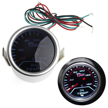 1 set 52mm Car Universal Smoke Lens LED Pointer Oil Temp Temperature Gauge Meter Truck Parts Gauges