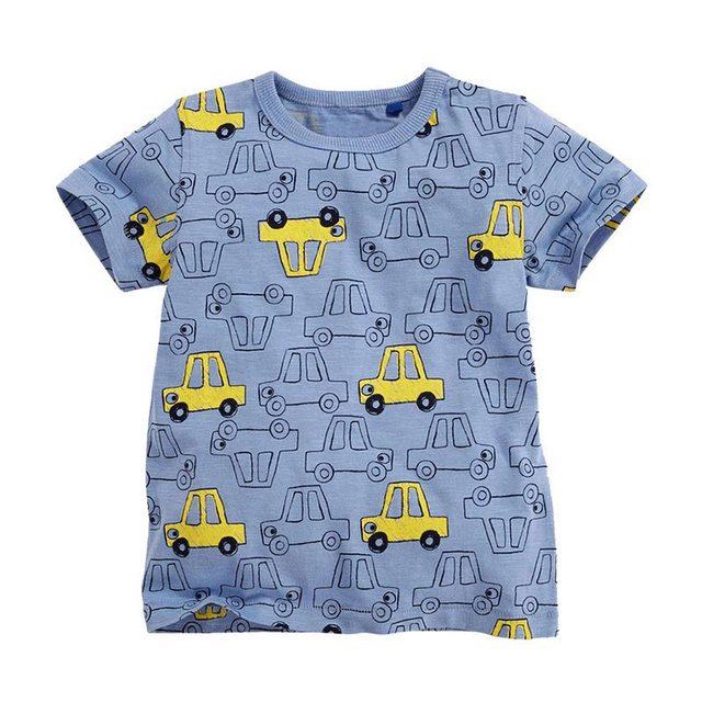 Детская футболка для мальчиков детская одежда Маленький мальчик летняя рубашка футболки дизайнерская хлопковая одежда с рисунками От 1 до 6 лет