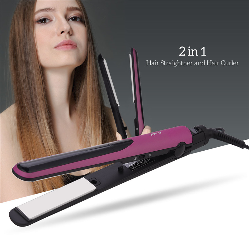 Professional Wet & Dry Use 2 In 1 Hair Straightener Ceramic Flat Iron Home in Constant Temperature DIY PTC Fast Heat 45