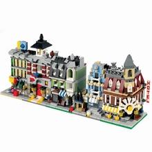 Город Мини уличный магазин серии создатели кафе на углу город пожарная команда магазин Модель Строительный блок для детей подарок на день рождения Legoingly