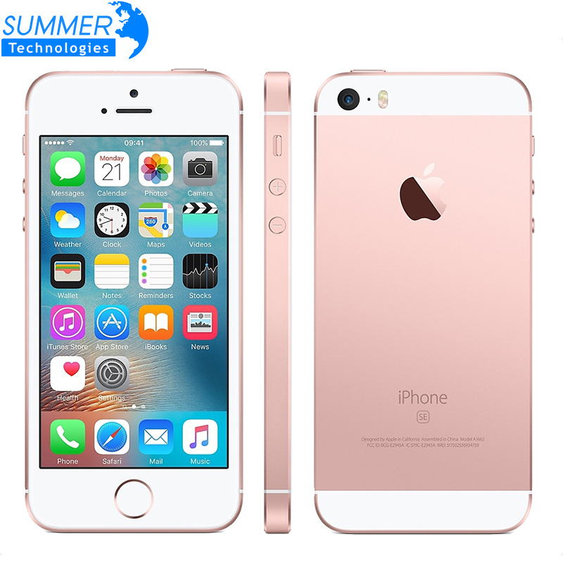 Original Apple iPhone SE teléfono móvil abierto A9 iOS 9 Dual Core 2 GB RAM 16/64 GB ROM 4,0 ''12MP huella digital 4G LTE Smartphone