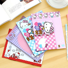 (3 конверт + 6 письмо документы) /мешок милый рисунок «Hello Kitty» бумаги Красочные конверт подарок ребенку корейский Канцелярские Бесплатная доставка 03228