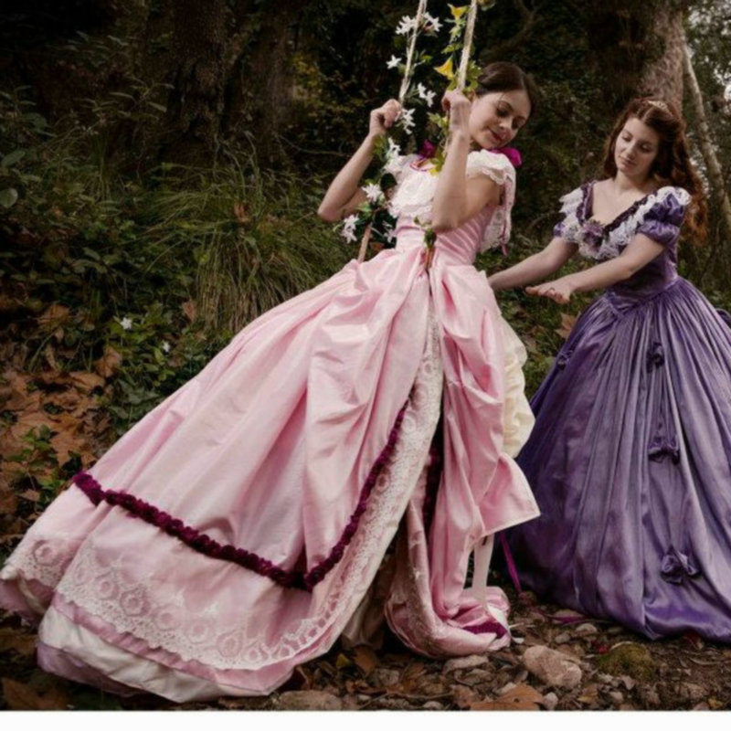 Sc Gothique lvitage Victorien Robes Chic Sur Mesure D'halloween 149 Théâtre Prairies Robe Film rHawr