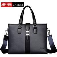 VKTERY Men Luxury Brand PU Leather Messenger Bag Hot Mens Business Handbag Fashion Shoulder Bag Casual Crossbody Bag Bolsas Male