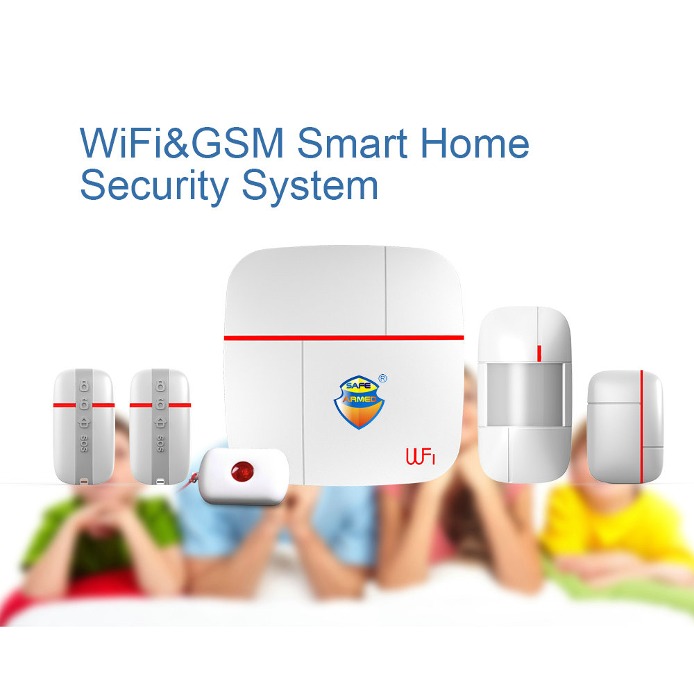 (1set)Vcare Multi-function WIFI GSM Dual Smart Home Alarm System with Motion Door/Window Sensor & Medical Emergency Button Ver A(1set)Vcare Multi-function WIFI GSM Dual Smart Home Alarm System with Motion Door/Window Sensor & Medical Emergency Button Ver A