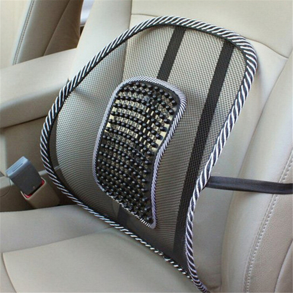 Massage Vent Mesh Lumbar Lower Back Brace Support Car Seat Chair Cushion Pad Back