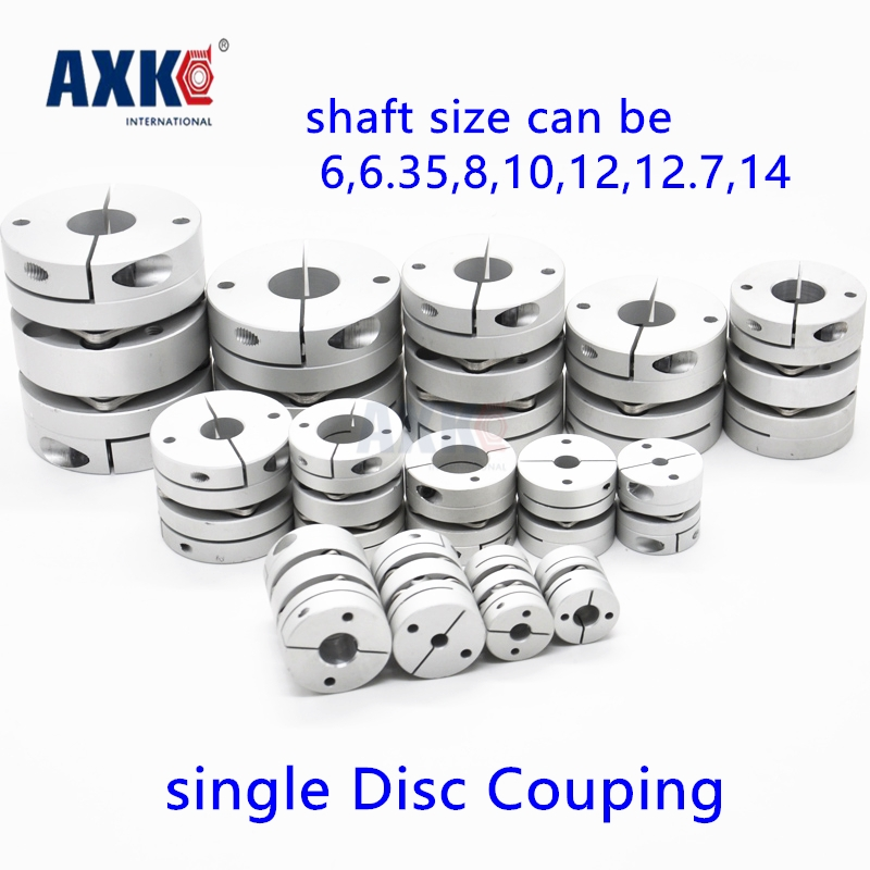 Bearing Axk New Dia. 34, 6mm, 6.35mm, 8mm, 10mm, 12mm, 12.7mm, 14mm Aluminum Alloys Single Diaphragm Disk Coupling Disc Coupler new frame model aluminum alloys single