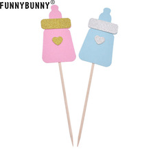 FUNNYBUNNY Cake Toppers Birth Party Milk Bottle Mold Sweet Birthday