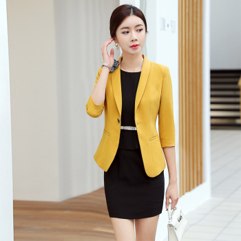 Plus Size Blue Blazer | IZICFLY New Style Summer Blue Women Suits With Blazer Dress Uniform Business Traje Mujer Suit Dress Conbinaison Femme Plus Size