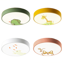 4 Colors Cartoon Led Ceiling Lamp Acrylic Shade for Kids Childs Modern Nordic Round Lights Fixtures Living Room