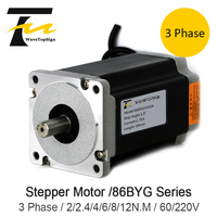 NEMA34 3 Phase 86BYG Series Stepper Motor Step Angle 1.8 4A 6N.M Torque Stepper Motor