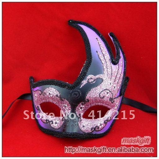 DHL, в США, красивая фиолетовая и черная Маскарадная маска с рисунком лебедя, вечерние маскарадные маски