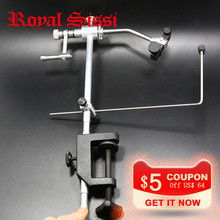 1 Set High Quality Fly Tying Vise with C-Clamp black Handle Steel Stainless Hard Jaws Rotary Fly Fishing Tying Vice Accessories