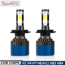 BraveWay 12V LED Bulbs for Car H7 H11 H1 HB3 HB4 9005 9006 H4 Motorcycle Headlight Bulbs Led Fog Light H8 Lamps for Automotive(China)