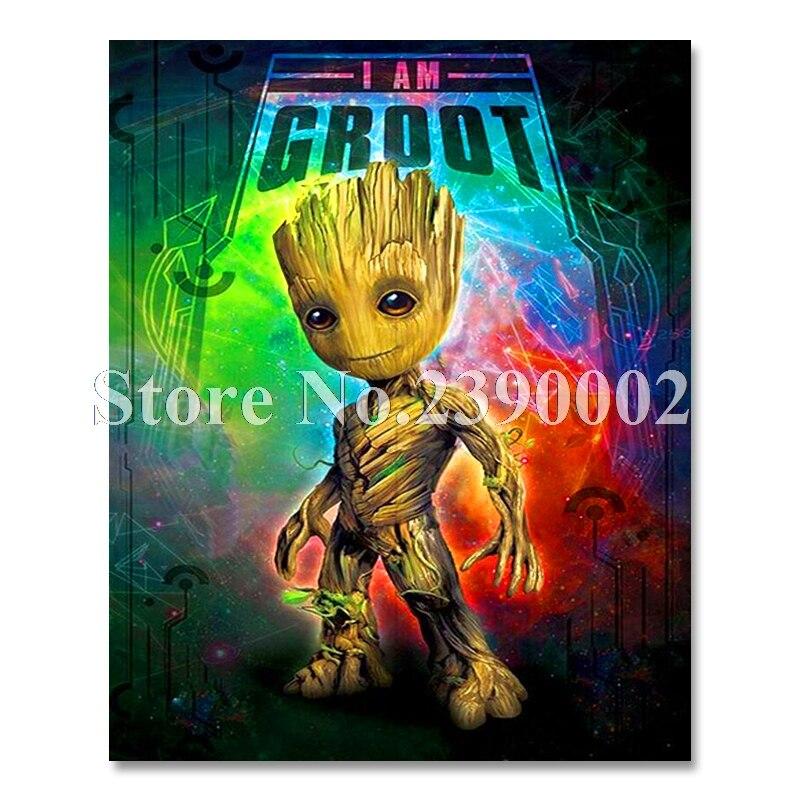 Diamond Embroidery Groot DIY Diamond Painting Cross Stitch Kit guardians galaxy 5D Full Square Diamond Mosaic Home Decor