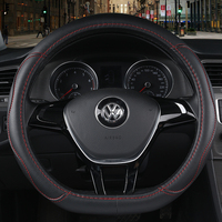 Wearable Leather 3D Design Steering Wheel Cover Breathable Non Slip Feel Good Universal Car Steering Covers