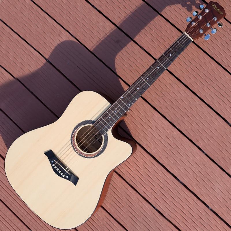 Guitar Acoustic Steel-String 6 String Balladry Folk Pop Flattop 41 Inch Guitarra Matte Cutaway Beginner top quality 38 guitar acoustic guitar folk 6 string guitar spruce colour free shipping