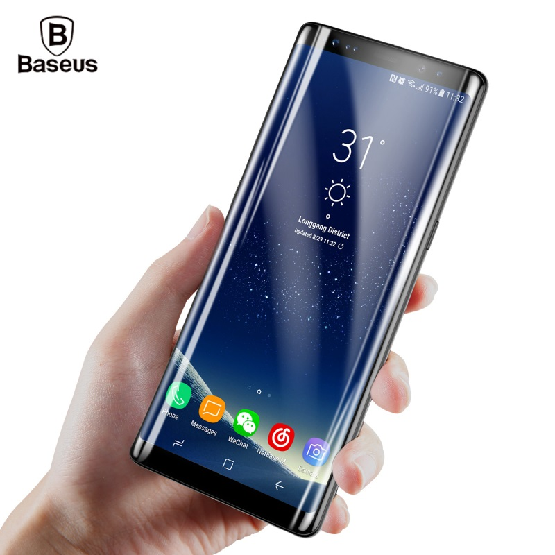 <font><b>BASEUS</b></font> for Samsung Note 8 <font><b>Screen</b></font> Protector for Samsung Galaxy Note8 N950 <font><b>Tempered</b></font> <font><b>Glass</b></font> 3D <font><b>Curved</b></font> <font><b>Full</b></font> <font><b>Size</b></font> Covering Protect