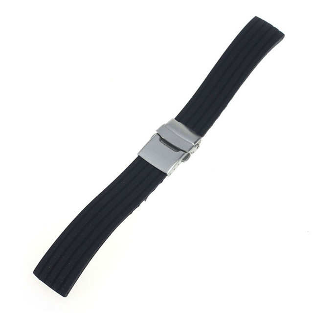 GEMIXI  Watchbands     New Arrival Fashion Watch Strap Band Deployment Buckle Rubber Watchband Strap On Your Watch 18mm - 24mm