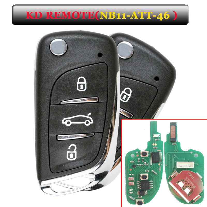 Free shipping NB11 3 Button Alarm key Remote Key NB-ATT-46 Model for URG200/KD900/KD200 machine 5pcs/lot free shipping 5 pcs lot keydiy kd900 nb11 3 button remote key with nb att 36 model for peugeot citroen ds etc