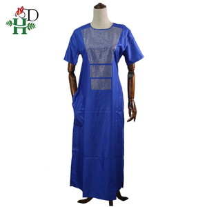 Image 3 - H&D african couple clothes suits long dresses for women african men dashiki shirt pant set 2020 new clothing with shining stones