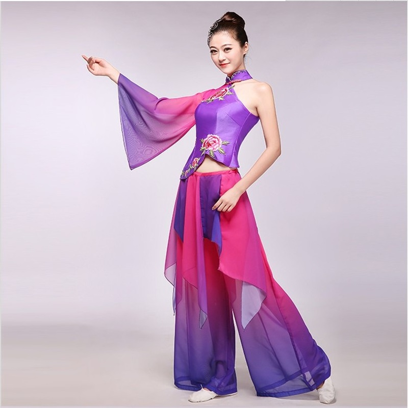 Women's new classical Yangge clothing ethnic dance costumes modern dance fan dance traditional chinese folk dance costume