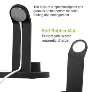 Image 5 - טעינת Dock תחנה עבור iPhone 11 פרו X XS XR מקסימום 7 8 בתוספת אפל שעון Airpods USB מטען Stand מחזיק בסיס עבור Samsung S9 S8