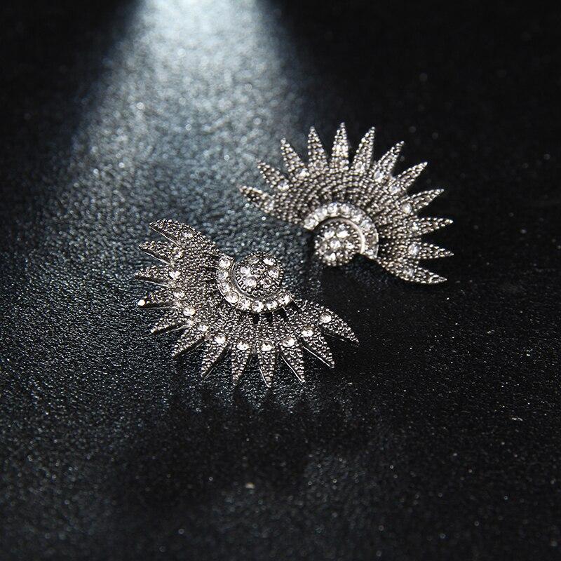 Модные Роскошные элегантные бренд кристалл серьги для Для женщин для девочек для рождественской вечеринки опал камень серьги под золото подарок e0250