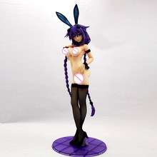 1/4 PVC and Resin action figure B-STYLE Hyperdimension Neptunia: Purple Heart Bunny Ver Sexy Naked Anime Collection GK Model Toy